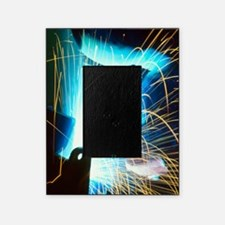 Sparks flying from an argon welder a Picture Frame