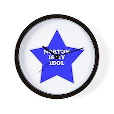 Norton Is My Idol Wall Clock
