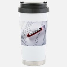 Blood sample with results Travel Mug