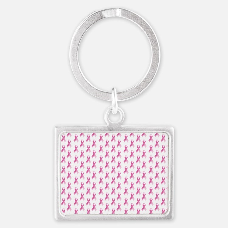 Breast Cancer Awareness Pink Ri Landscape Keychain