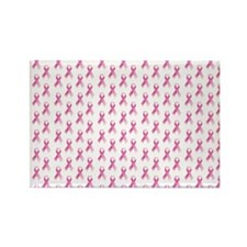 Breast Cancer Awareness Pink Ribb Rectangle Magnet