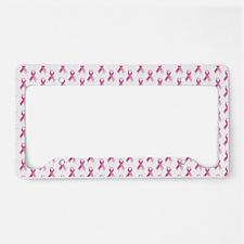Breast Cancer Awareness Pink  License Plate Holder