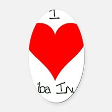 I Love Shiba Inus Oval Car Magnet