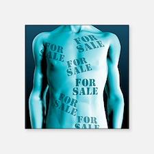 """Body parts for sale Square Sticker 3"""" x 3"""""""