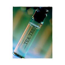 Bottle of essential oil from tea tree Twin Duvet