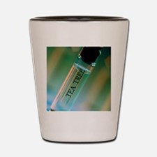 Bottle of essential oil from tea tree Shot Glass