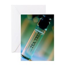 Bottle of essential oil from tea tre Greeting Card
