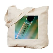 Bottle of essential oil from tea tree Tote Bag