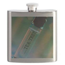 Bottle of essential oil from tea tree Flask