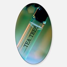 Bottle of essential oil from tea tr Decal