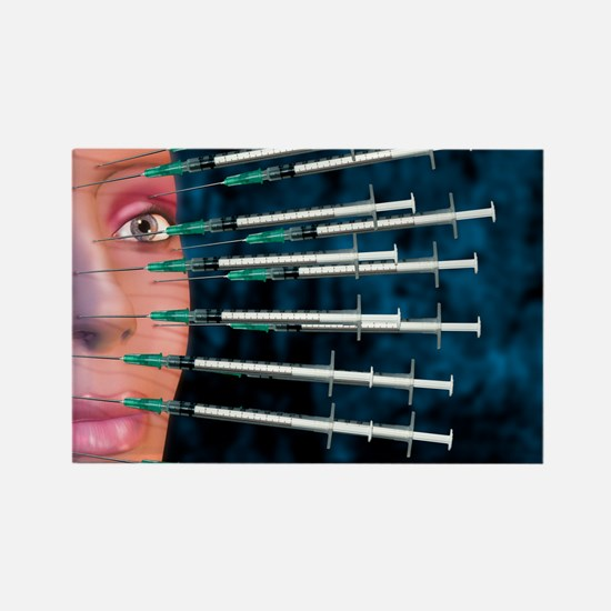 Botox facelift injections Rectangle Magnet