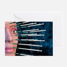Botox facelift injections Greeting Card