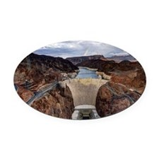 Large Hoover Dam Oval Car Magnet