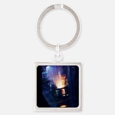 Steel production hall Square Keychain