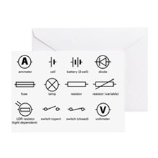 Standard electrical circuit symbols Greeting Card