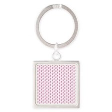 Breast Cancer Awareness Pink Ribbo Square Keychain
