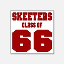 "MHS Class Of 1966 Square Sticker 3"" x 3"""