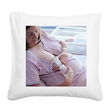 Breast pump Square Canvas Pillow