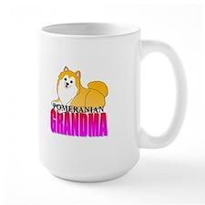 Particolor Pomeranian Grandma Mug