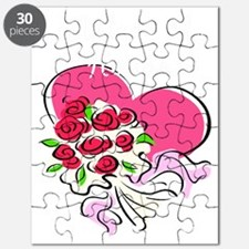 Matron of Honor Heart Bouquet Puzzle