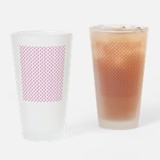 Pink Ribbon Breast Cancer Pattern Drinking Glass