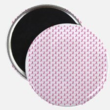 Pink Ribbon Breast Cancer Pattern Magnet