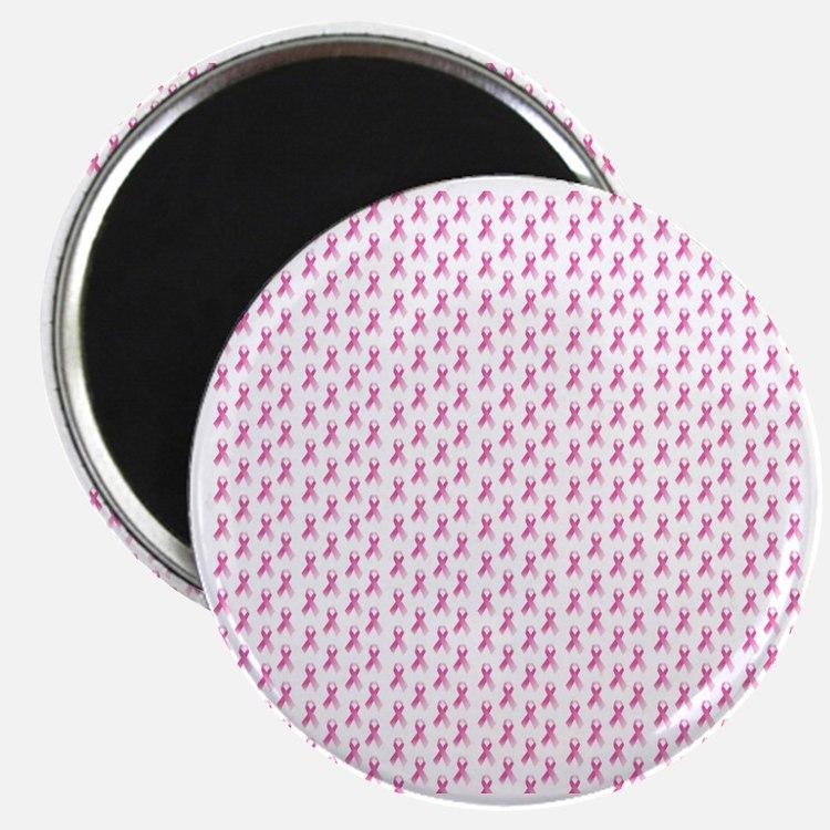 Pink Ribbon Breast Cancer Pattern Magnet
