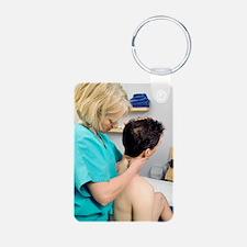 Cervical spine examination Keychains