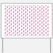 Pink Ribbon Breast Cancer Pattern Yard Sign
