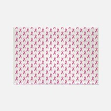 Pink Ribbon Breast Cancer Pattern Rectangle Magnet