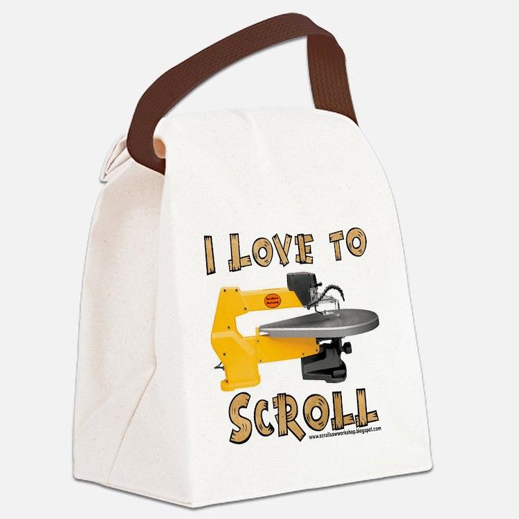 ilovetoscroll Canvas Lunch Bag