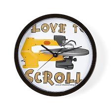 ilovetoscroll Wall Clock