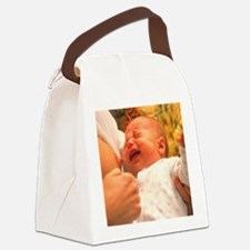 Breast-feeding: baby's crying cau Canvas Lunch Bag