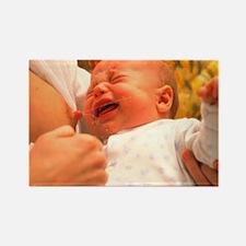 Breast-feeding: baby's crying cau Rectangle Magnet