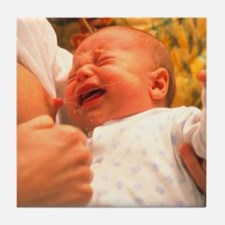 Breast-feeding: baby's crying causes  Tile Coaster