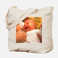 Breast-feeding: baby's crying causes milk Tote Bag