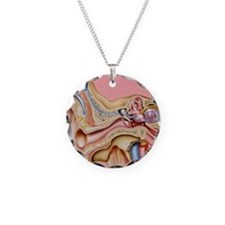 Cochlear implant, artwork Necklace