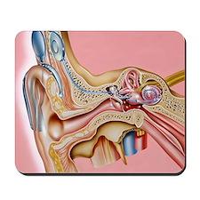 Cochlear implant, artwork Mousepad