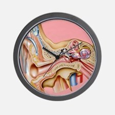 Cochlear implant, artwork Wall Clock