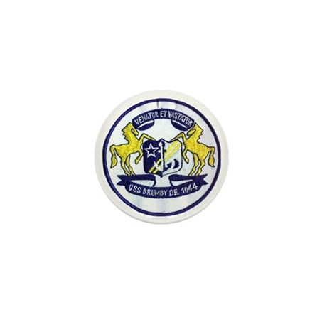 uss brumby de patch transparent Mini Button