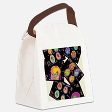 Coloured CT scans of the brain on Canvas Lunch Bag