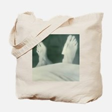 Cadaver's feet with identification tag Tote Bag