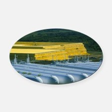Stored natural gas Oval Car Magnet