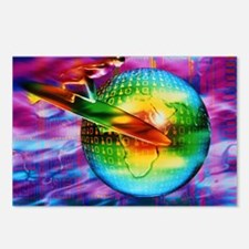 Surfing cyberspace Postcards (Package of 8)