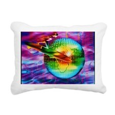 Surfing cyberspace Rectangular Canvas Pillow
