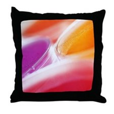 Close-up of petri dishes Throw Pillow