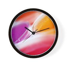 Close-up of petri dishes Wall Clock
