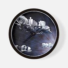 Stargate spaceships Wall Clock