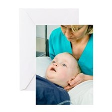 Cervical spine examination Greeting Card