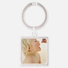 Child's medicine Square Keychain
